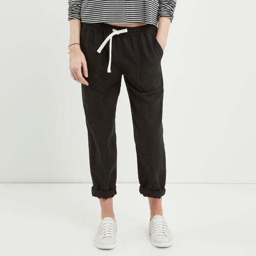 Roots-Winter Sale Bottoms-Sadie Pull On Pant-Black-A