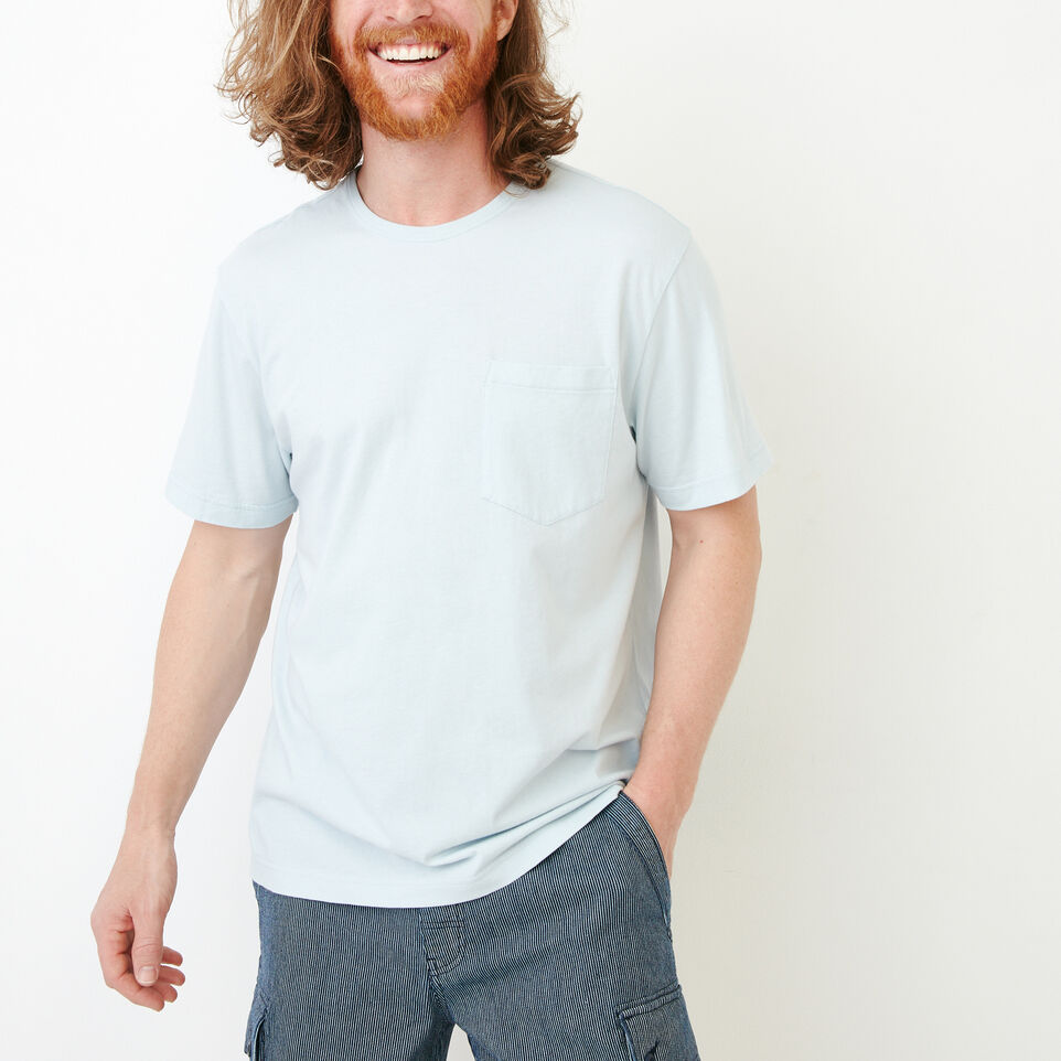 Roots-Men Our Favourite New Arrivals-Essential Pocket T-shirt-Baby Blue-A