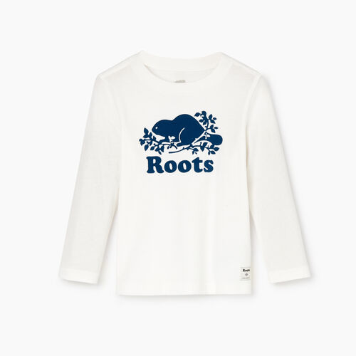 Roots-Kids Our Favourite New Arrivals-Toddler Original Cooper Beaver T-shirt-Ivory-A