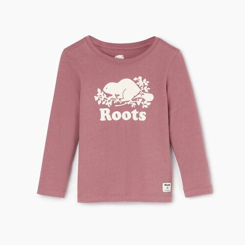 Roots-Kids Categories-Toddler Original Cooper Beaver T-shirt-Wistful Mauve-A