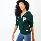 Roots-Women Clothing-Original Full Zip Hoody-Varsity Green-C