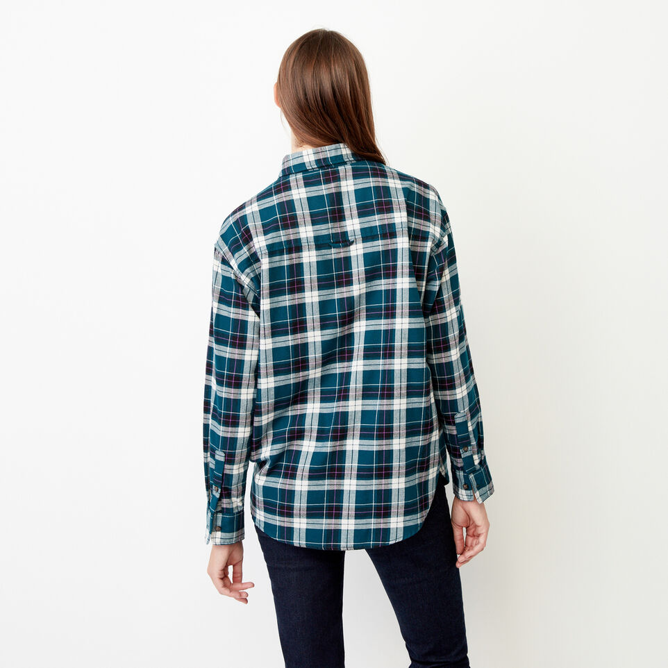 Roots-Women Our Favourite New Arrivals-Alaina Boyfriend Shirt-Shaded Spruce-D