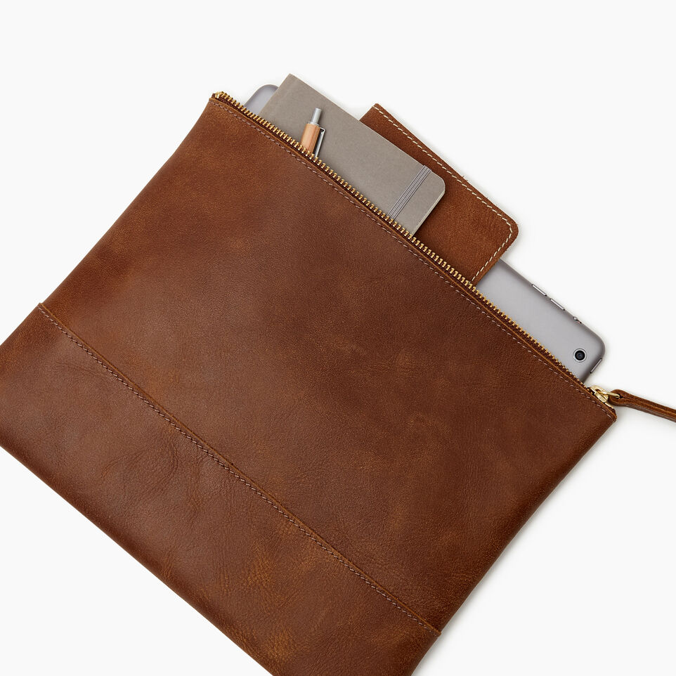 Roots-Leather Our Favourite New Arrivals-Junction Pouch-Natural-E