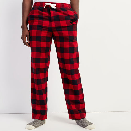 Roots-Men Sleepwear-Park Lounge Pant-Cabin Red-A