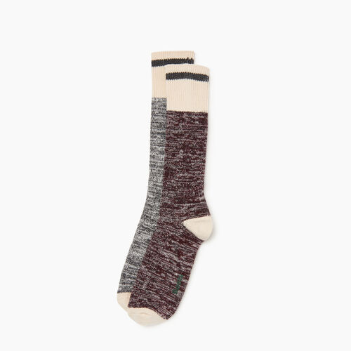 Roots-Men Categories-Cotton Cabin Sock 2 pack-Crimson-A