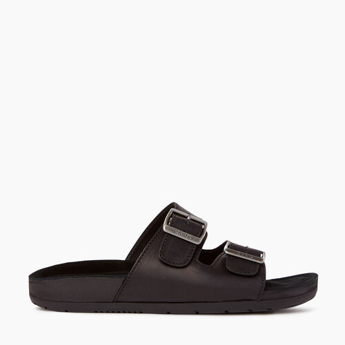 Roots-Clearance Footwear-Mens Cobourg Sandal-Black-A
