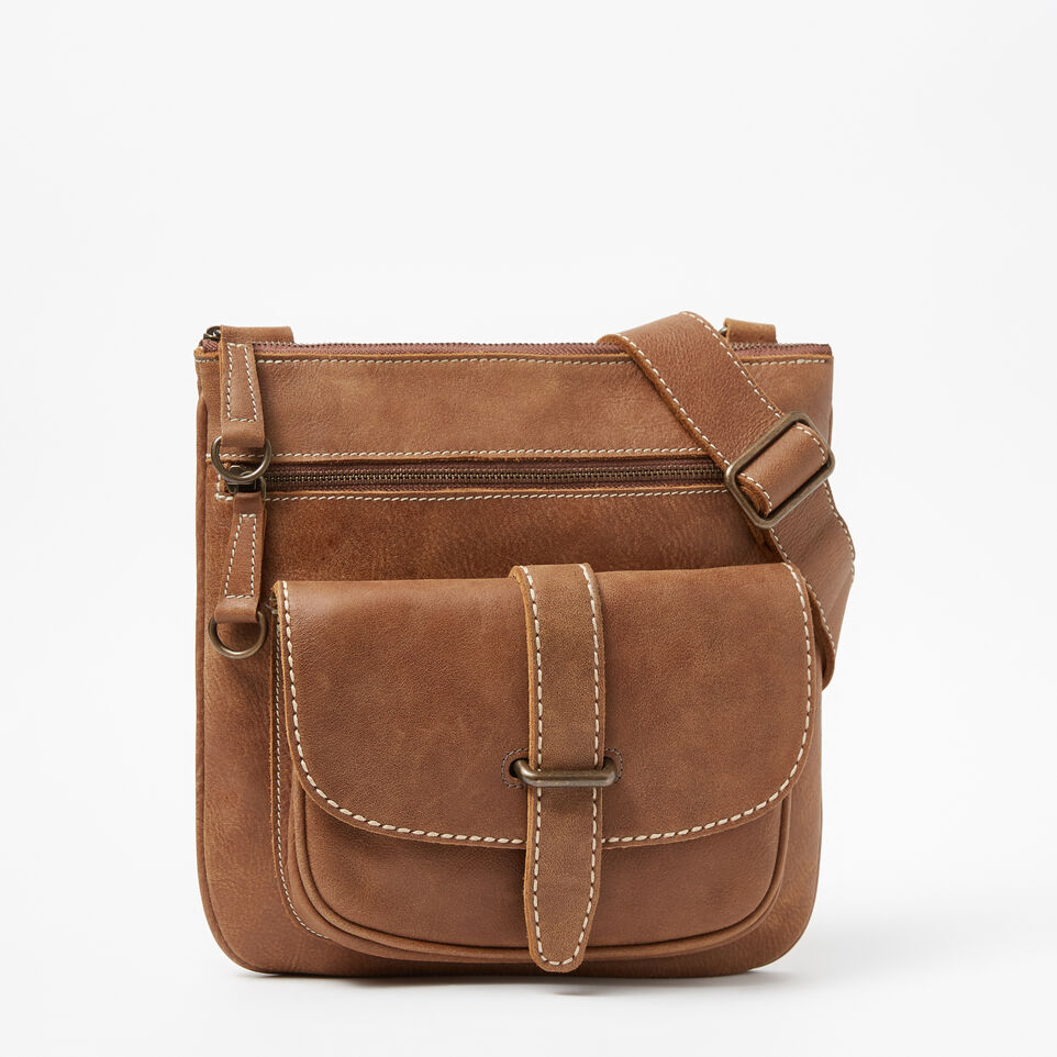 Roots-Leather Handbags-Side Saddle Tribe-Natural-A