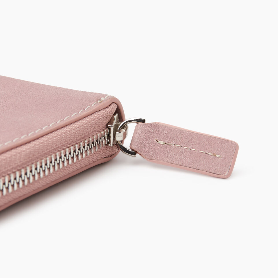 Roots-Leather Categories-Zip Around Clutch Tribe-Woodrose-E