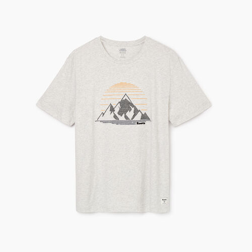 Roots-Men Our Favourite New Arrivals-Mens Rocky Mountain T-shirt-White Mix-A