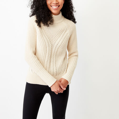 Roots-Winter Sale Women-Nelson Cable Sweater-Sand-A