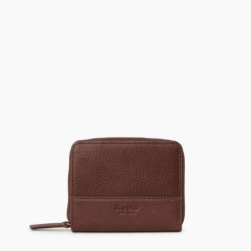 Roots-Leather Wallets-Small Zip Wallet-Cognac-A