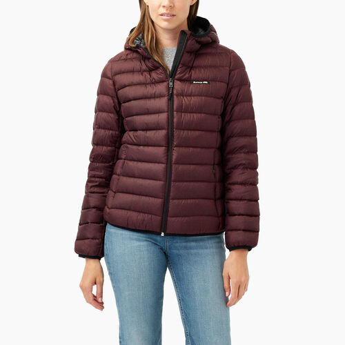 Roots-Women Outerwear-Roots Packable Down Jacket-Northern Red Pepper-A