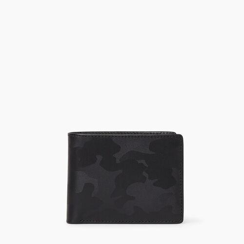 Roots-Hommes Cuir-Mens Slimfold Sideflap Camo-Noir Camouflage-A