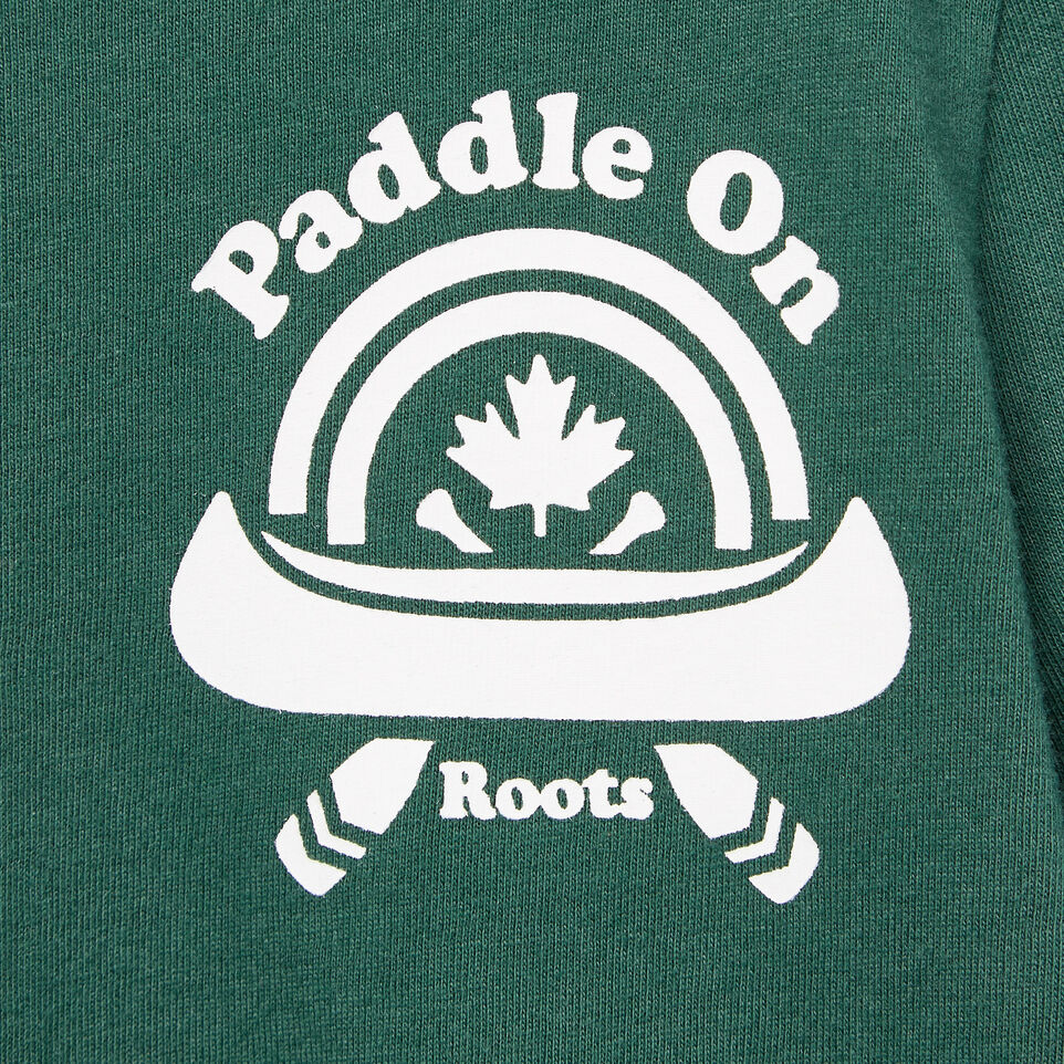 Roots-Kids New Arrivals-Toddler Paddle On T-shirt-Hunter Green-D