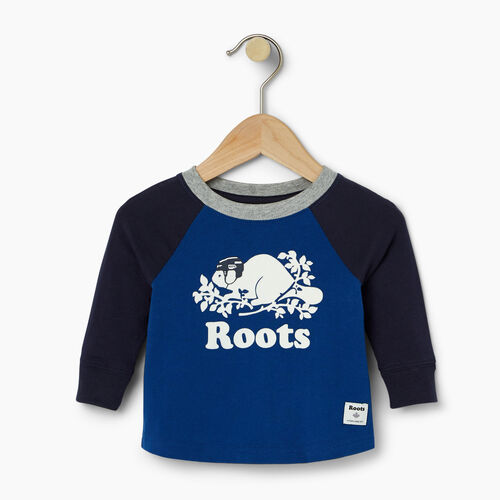 Roots-Winter Sale Baby-Baby Hockey Buddy Raglan T-shirt-Active Blue-A
