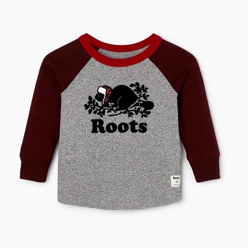 Roots-Kids Our Favourite New Arrivals-Baby Buddy Raglan T-shirt-Crimson-A