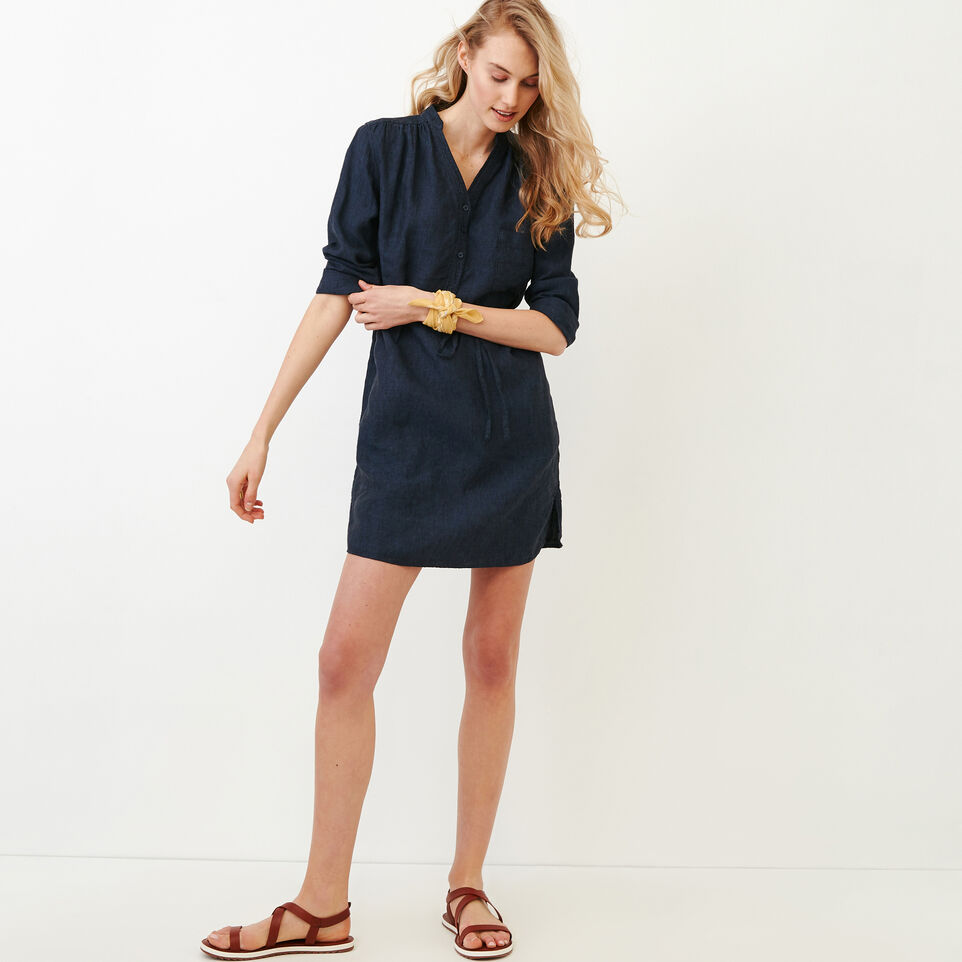 Roots-Women Our Favourite New Arrivals-Camrose Dress-Indigo-B