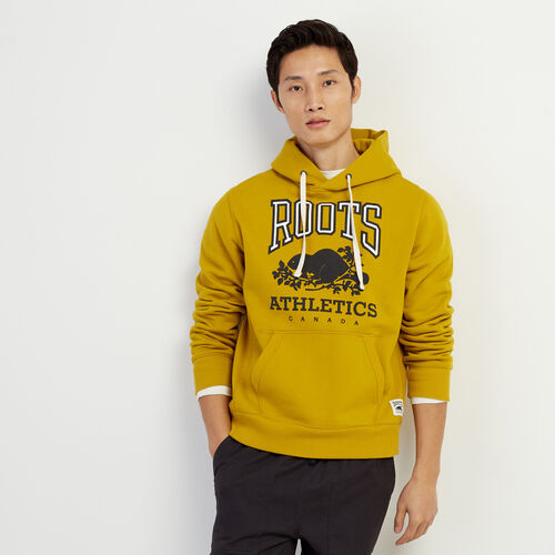 Roots-Men Bestsellers-RBA Kanga Hoody-Amber Green-A