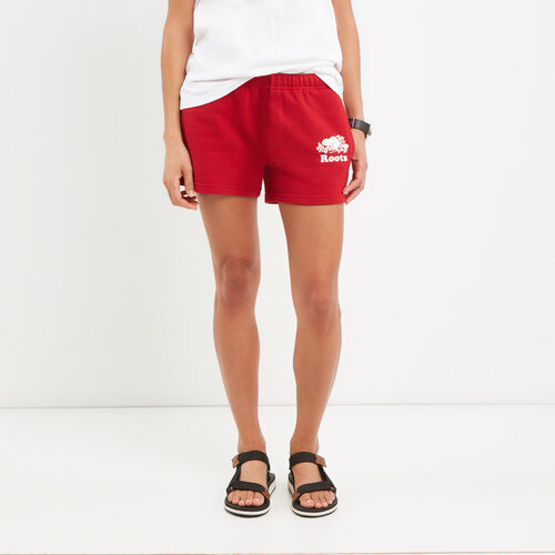 Roots-Women Bottoms-Original Sweatshort-Sage Red-A
