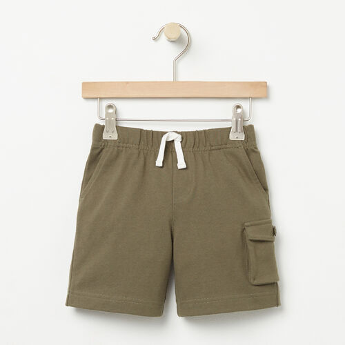 Roots-Kids Bottoms-Toddler Camp Short-Dusty Olive-A