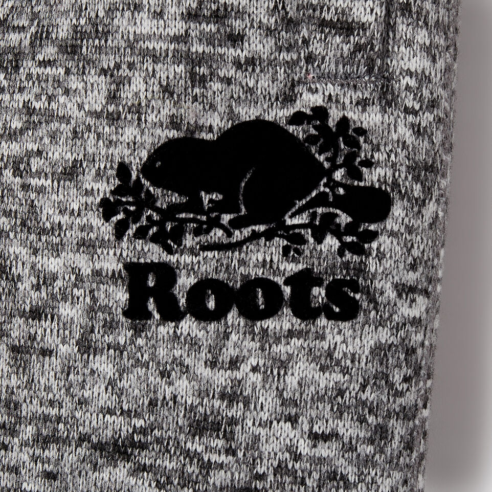 Roots-Kids Bottoms-Boys Sweater Fleece Cargo Pant-Salt & Pepper-C