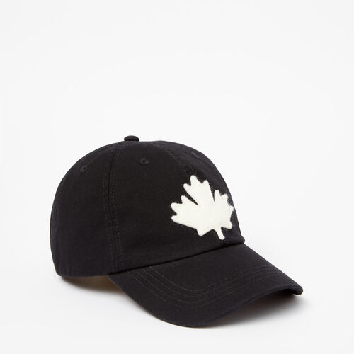 Roots-Women Accessories-Canada Leaf Baseball Cap-Black-A
