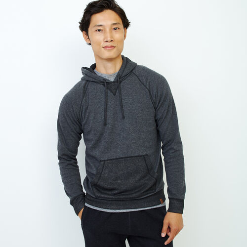 Roots-Men Our Favourite New Arrivals-Cozy Thermal Hoody-Charcoal Mix-A