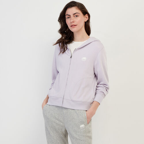 Roots-Women Bestsellers-Bonita Full Zip Hoody-Misty Lilac-A