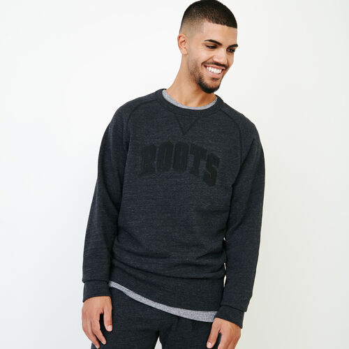 Roots-Men Our Favourite New Arrivals-50s Freedom Sleeve Crew Sweatshirt-Black Mix-A