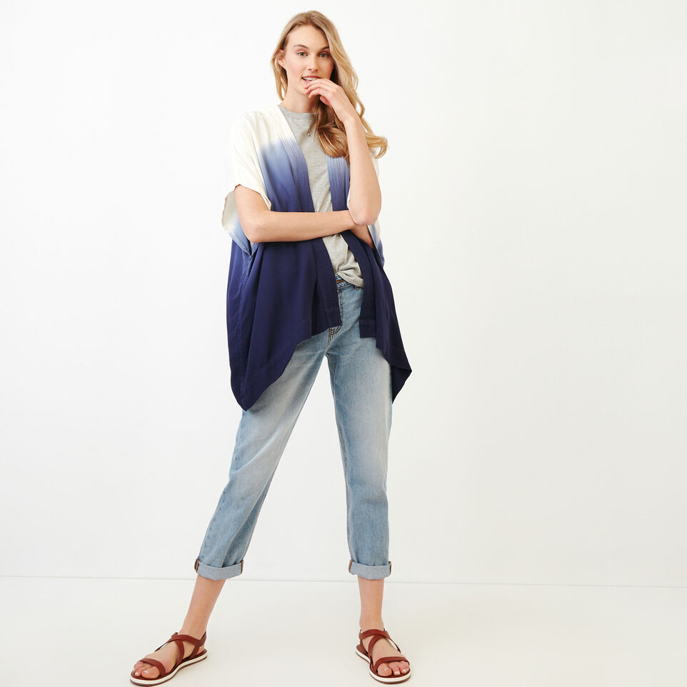 Roots-Women Our Favourite New Arrivals-Tessa Dip Dyed Kimono-Ombre Blue-B