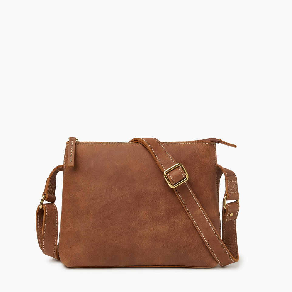 Roots-Leather  Handcrafted By Us Our Favourite New Arrivals-Journey Crossbody Tribe-Natural-C