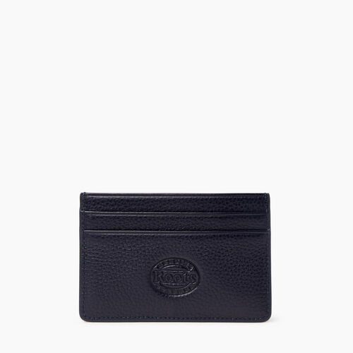 Roots-Leather Leather Accessories-Card Holder Cervino-Navy-A
