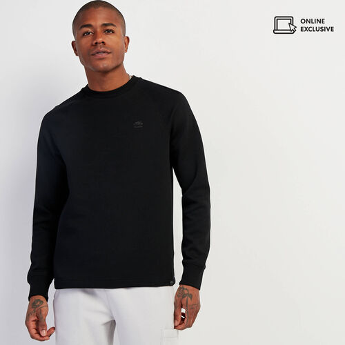 Roots-Men New Arrivals-Journey Crew Sweatshirt-Black-A