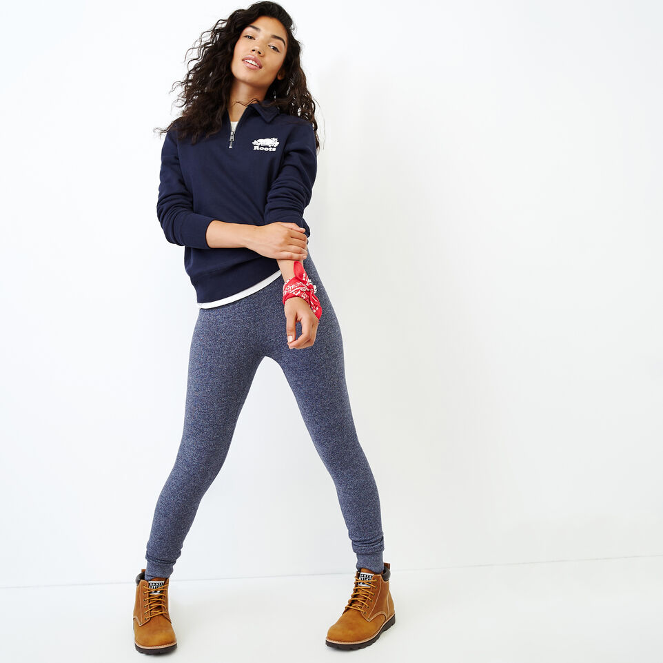 Roots-Women Our Favourite New Arrivals-Original Zip Polo-Navy Blazer-B