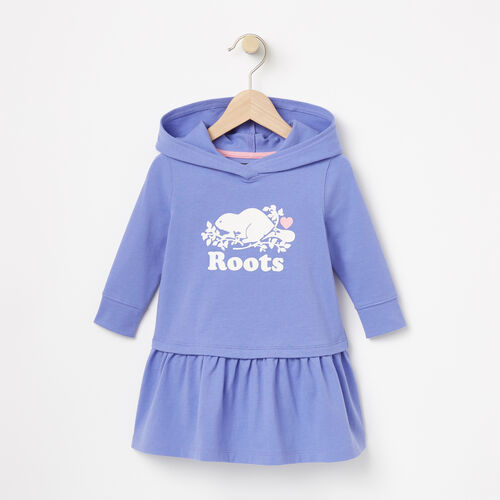 Roots-Kids Dresses-Baby Morgan Hooded Dress-Lolite-A