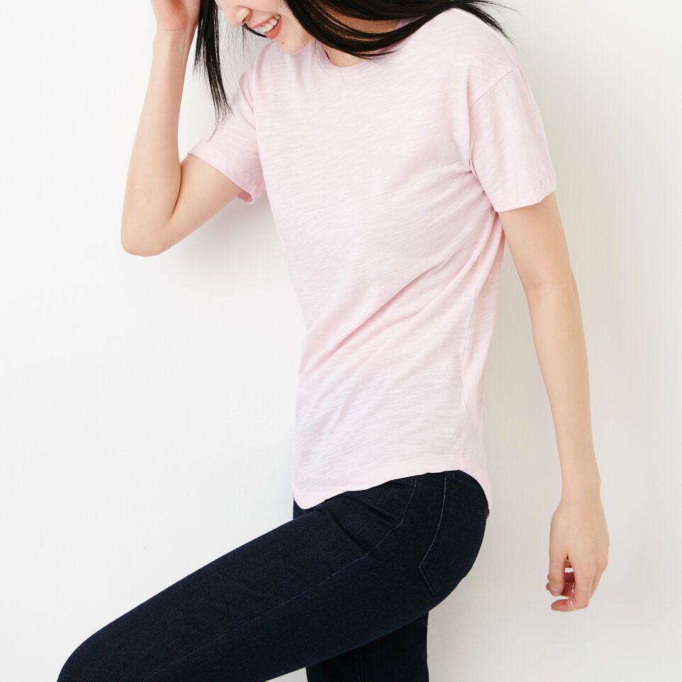 Roots-Women Clothing-Savin Top-Pink Mist-C
