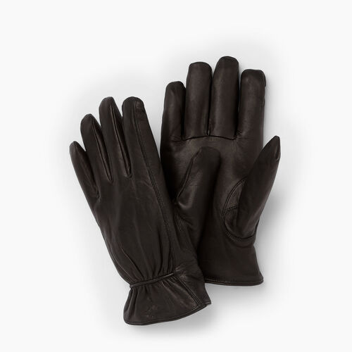 Roots-Men Leather Accessories-Mens Classic Nappa Glove-Black-A