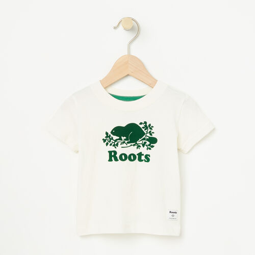 Roots-Kids Baby Boy-Baby Cooper Short Sleeve T-shirt-Pristine White-A