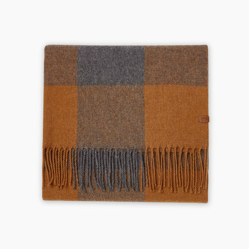 Roots-New For October Plaids-Roots Park Plaid Blanket Scarf-Treehouse Brown-A