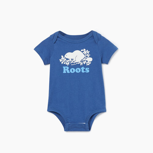 Roots-Kids New Arrivals-Baby Cooper Beaver Bodysuit-True Navy-A