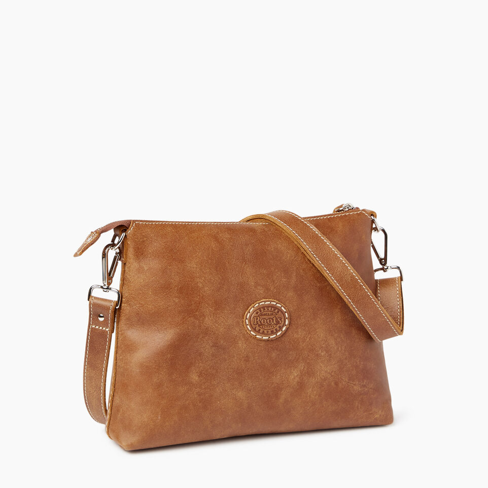 Roots-Leather Roots Original Flat Bags-Trans Canada Villager-Natural-C