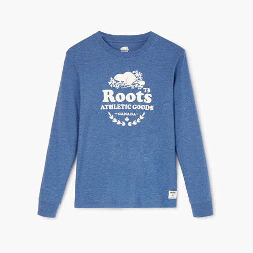Roots-Women Categories-Womens Laurel Long Sleeve T-shirt-Bering Sea Mix-A