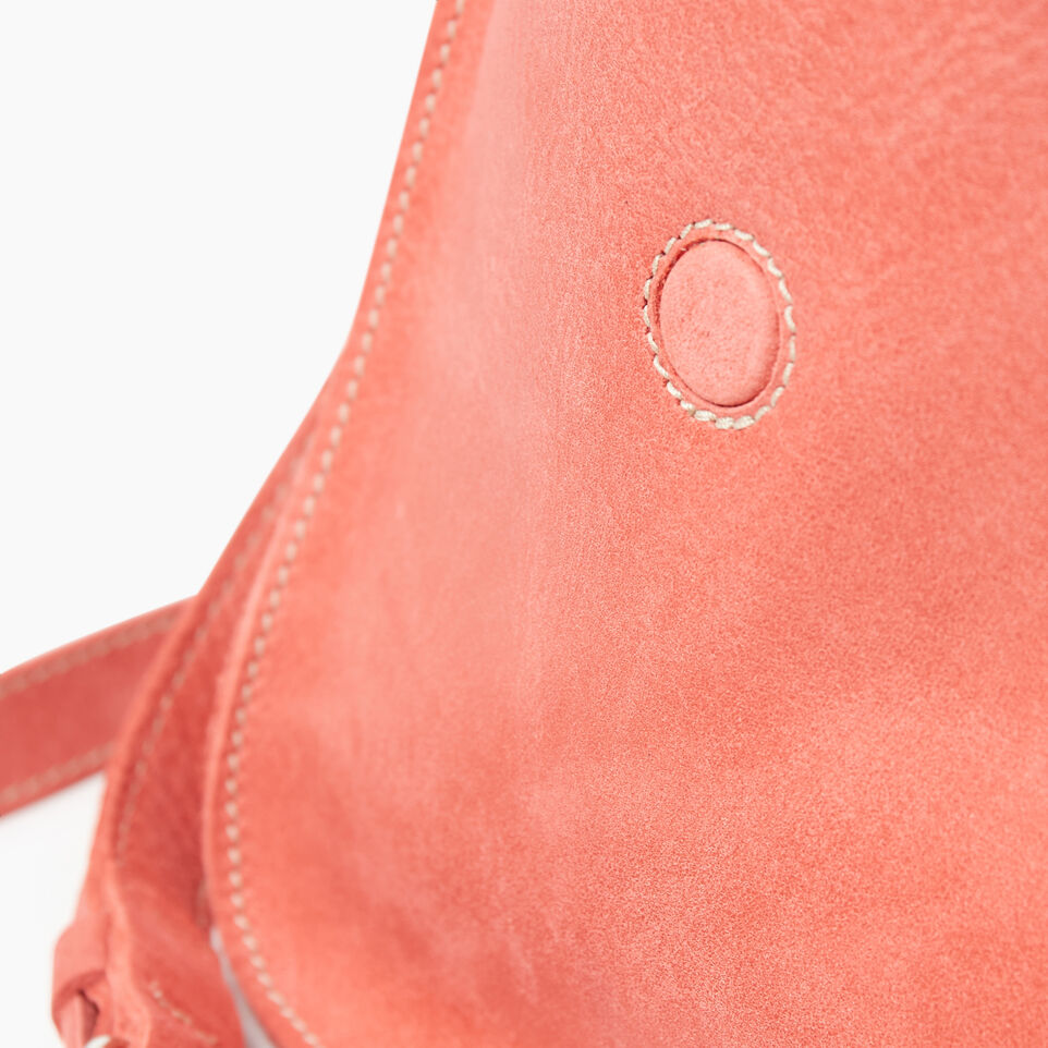 Roots-Leather New Arrivals-Canmore Crossbody Tribe-Coral-E