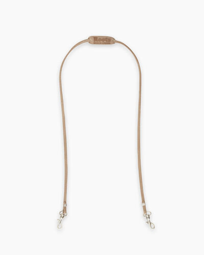 Roots-Men Leather Accessories-Mask Lanyard-Sand-A