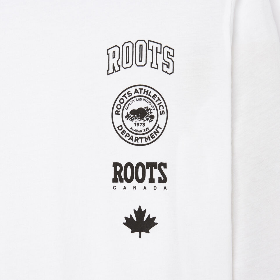 Roots-Women Categories-Womens Stamps T-shirt-Crisp White-C