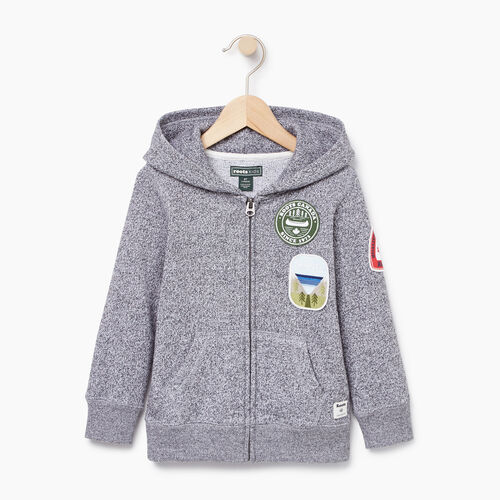 Roots-Kids Toddler Boys-Toddler Patches Full Zip Hoody-Salt & Pepper-A