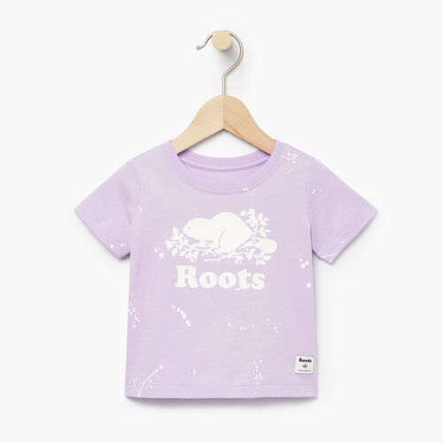 Roots-Clearance Kids-Baby Splatter Aop T-shirt-Lavendula-A