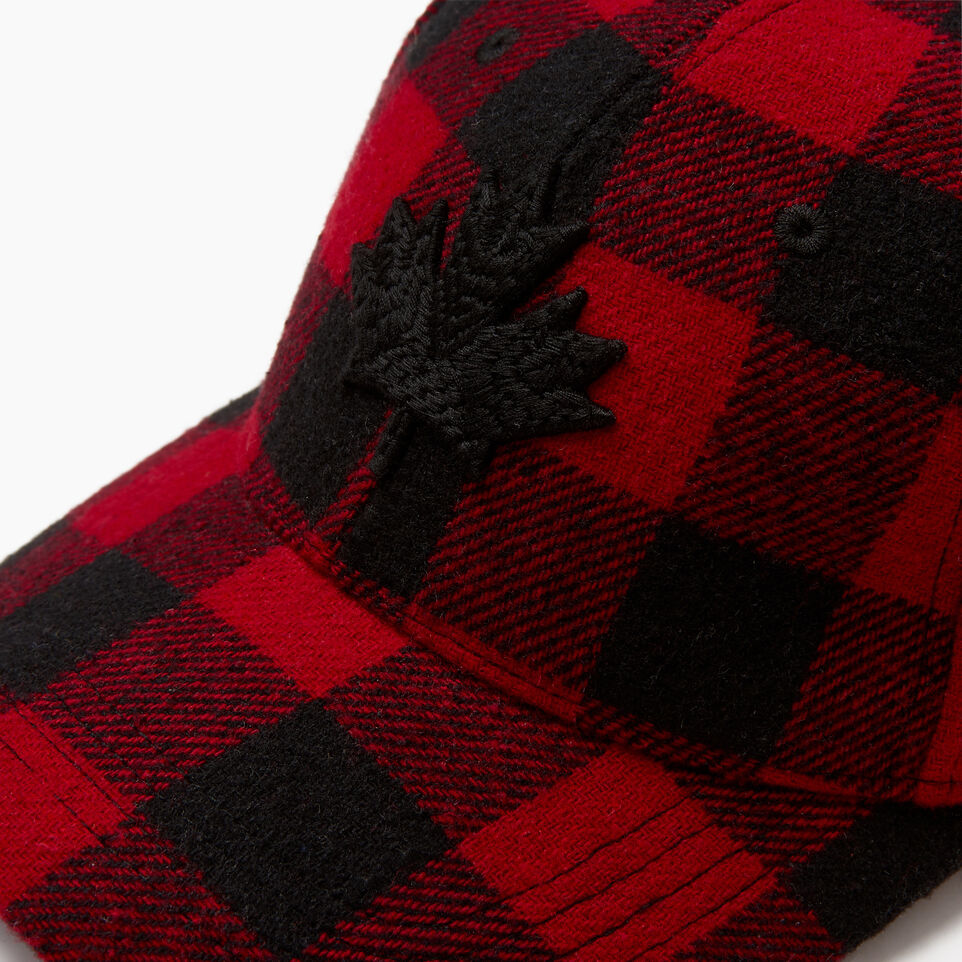 Roots-undefined-Park Plaid Leaf Baseball Cap-undefined-E