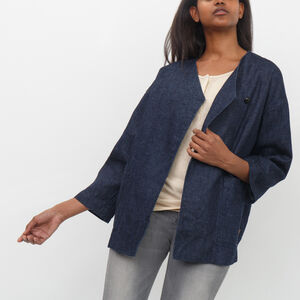 Roots-Sale Women-Cortland Jacket-Denim Blue-A