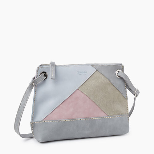 Roots-Women Crossbody-Edie Bag Patchwork-Sterling Grey-A